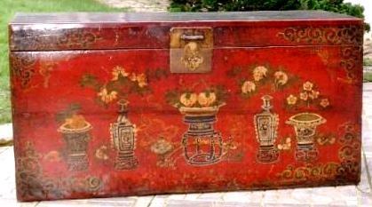 Coffre chinois ancien de mongolie galerie tao for Mobilier japonais ancien