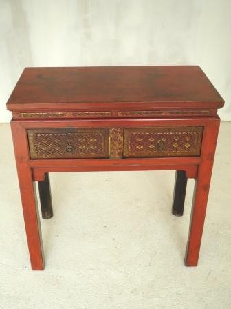 console chinoise ancienne laquee rouge galerie tao. Black Bedroom Furniture Sets. Home Design Ideas