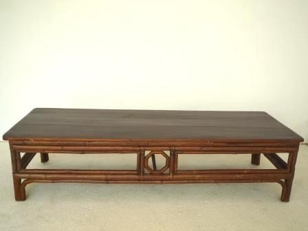 Table chinoise ancienne en bambou galerie tao for Mobilier japonais traditionnel