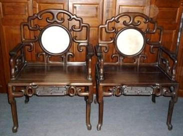 fauteuils chinois anciens indochine galerie tao. Black Bedroom Furniture Sets. Home Design Ideas