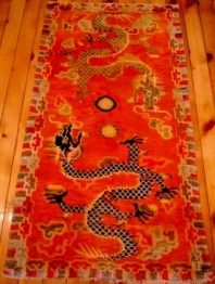 TAPIS TIBETAIN AU DRAGON
