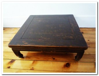 "TABLE CHINOISE ANCIENNE ""SABOTS"""