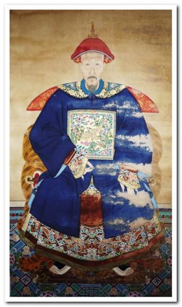 peinture chinoise portrait dignitaire galerie tao