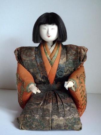 poupee japonaise ancienne musicien galerie tao