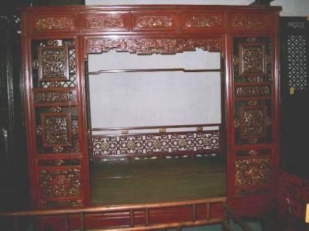 mobilier chinois ancien grand lit baldaquin galerie tao. Black Bedroom Furniture Sets. Home Design Ideas